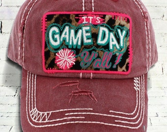Distressed 'It's Game Day Y'all!' Cap / Baseball Hat