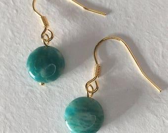 Green Amazonite Earrings