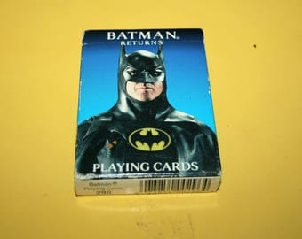 1992 Batman Returns DC Comincs Movie Playing Cards - Vintage United States Playing Card Company - DC Comi