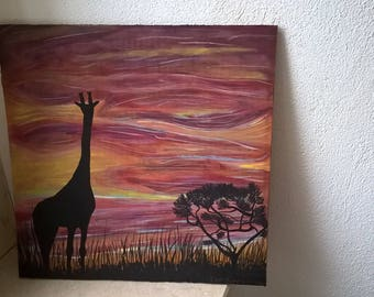 "acrylic painting ""warmth of Africa"""