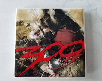 "300 (movie) Ceramic Tile Coaster *This is Sparta!""*"