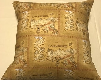 Game of Thrones Map of Westeros 16x16 handmade pillow