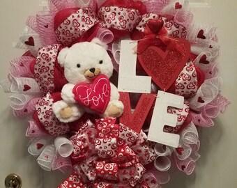 Teddy Bear Love Wreath