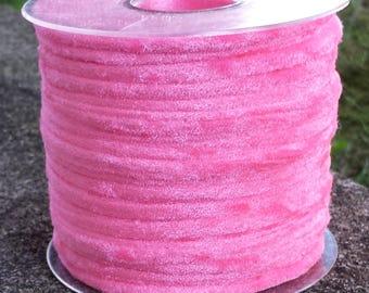 Tubolare in velluto rosa