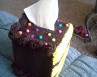 Piece of Cake Tissue Box Cozy