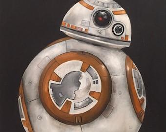 Star wars BB8 oil painting