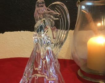 Crystal Angel Tapered Candle Holder