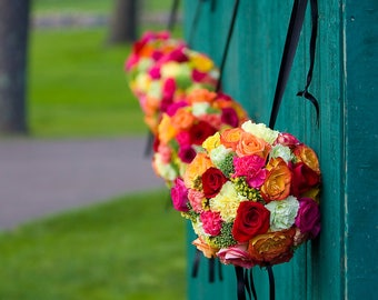 Bouquets of Flowers on Wall