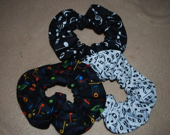 Music note hair scrunches
