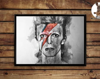 David Bowie poster wall art home decor print