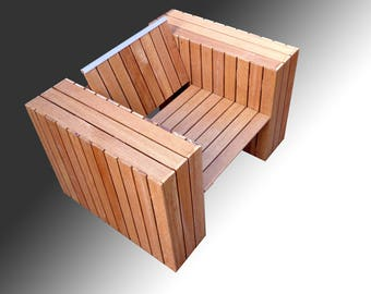 Design Armchair outer chair of Hardwood
