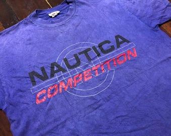 Vintage 90s Nautica Competition T-Shirt size M