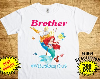Mermaid BROTHER, Mermaid Iron On Transfer, Printable DIY Shirt Transfer, Digital Files, Instant Download