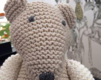 Cute playmate-hand knitted teddy bear