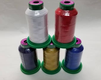 Isacord Embroidery Thread Red-White-Blue Kit