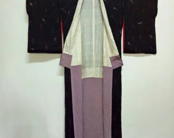 Vintage Kimono, Floral Kimono, Coverup, Japanese Robe Gown,Cardigan, Japanese Art Wall,