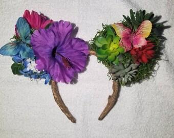 Flower and garden themed ears