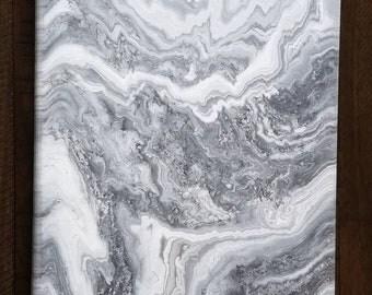 Fluid acrylic abstract