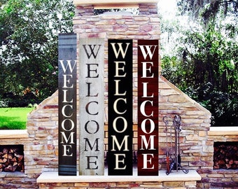 Welcome Signs (Over 40 stains to choose from)