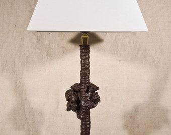 Lampe de table en Bronze, Famille de Singes