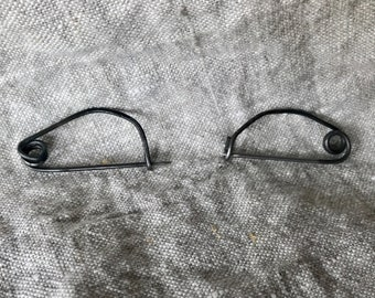 Greek Bow Fibula pair of 2 (blackened steel)