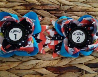Dr Seuss Thing 1 Thing 2 Pigtail Set