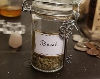 Wiccan herb jars