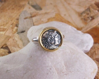 Alexander the Great Solid Sterling Silver Adjustable Ring