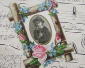 Vintage Paper Picture Mat Victorian Embossed Paper Photo Frame Circa 1885