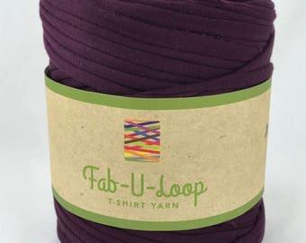 """T-Shirt Yarn - """"Eggplant""""  ~160 yards, 130 m"""