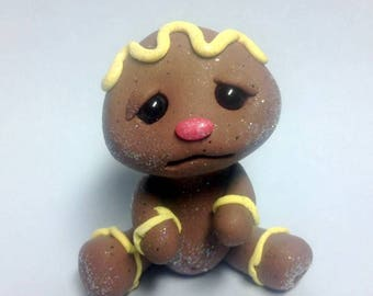 Lemon Creme Frosting Baby Girl Gingerbread Trollfling by Amber Matthies