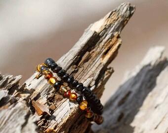 Women Amber Bracelet | Amber Bracelet | Genuine Baltic Amber |Baltic  Amber Bracelet | Amber Beaded Bracelet | Bernstein Armband | 琥珀手鍊