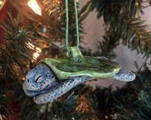 Sleeping Sea Turtle Ornament