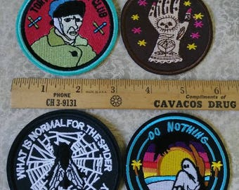 Van Gogh Spider Fly  -  Assorted Patches - Mystic Tattooed Hand Do Nothing Forever
