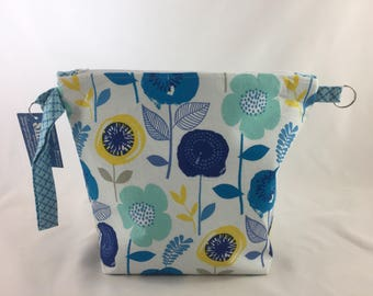 Blue and Yellow Flowers XL Pocket