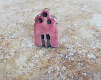 RESERVED,house of worship, kiln fired clay, church bead, raku