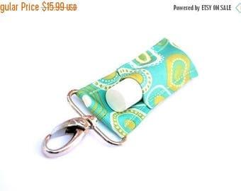 ON SALE LippyClip™ Lip Balm Holder for Chapstick, Burt's Bees, etc. |  Aqua Modern Dots  |  Free Shipping