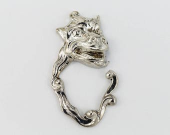 20mm Silver Monster Face Charm #CHB101