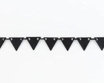Matte Black 7.25mm Triangle Drop Chain #CC105