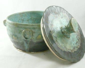 Lidded Casserole Dish, Ceramic Baking Bowl, Dish with Lid, Stew Pot, Bread Baker, Anniversary Gift, Glass Casserole