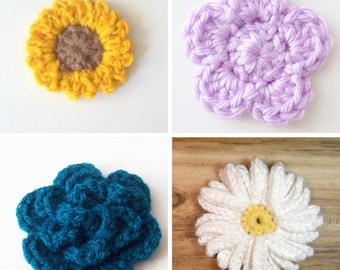 Crochet Flower Patterns, Crochet Pattern Bundle, Sunflower Crochet Pattern, Daisy Crochet Pattern, Flower Crochet Pattern, Instant Download