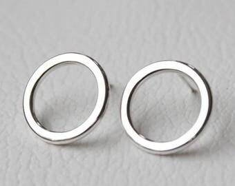 ON SALE TODAY Minimalist Geometric Earrings, Small Hoops, Studs, Silver Jewelry