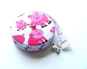 Measuring Tape with Pink Pigs Tape Measure