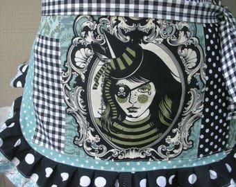 Goth Aprons - Womens Aprons - Tula pink Fabrics - Night Shade - Coven Aprons - Vapor Aprons - Etsy Aprons - Annies Attic Aprons - Goth Girls