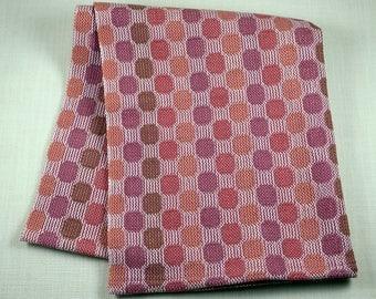 CIRCLES AND DOTS 100% Cotton Handwoven Dish Towel