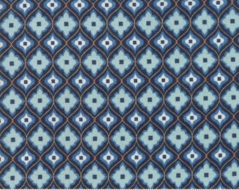 Biscuits and Gravy - Mend Fences in Picnic Blue: sku 30487-16 cotton quilting fabric by BasicGrey for Moda Fabrics
