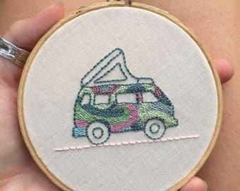 Volkswagen Van/ Vanagon / Bus Embroidered Wall Hanging