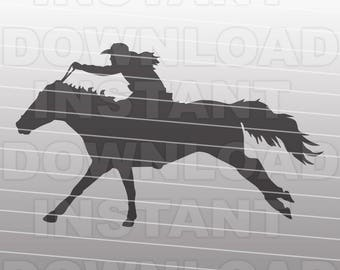 Barrel Racing SVG File,Barrel Racer SVG,Western Rodeo SVG File -Commercial & Personal Use- Vector Art - Cricut,Silhouette Cameo,vinyl decal