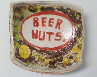 Beer Nuts Ceramic Dish