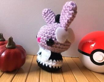 Gothita Moon Bun - Psychic Type Pokemon Bunny Rabbit Amigurumi Doll - 31 Amigurumi in October